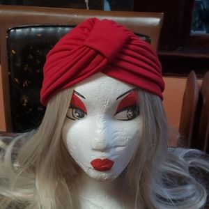 True 1950s Vintage Red Turban
